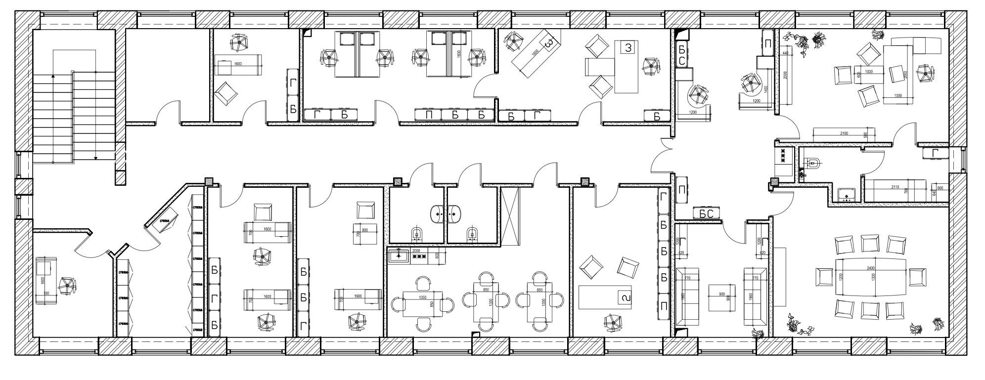 Схема помещений в здании