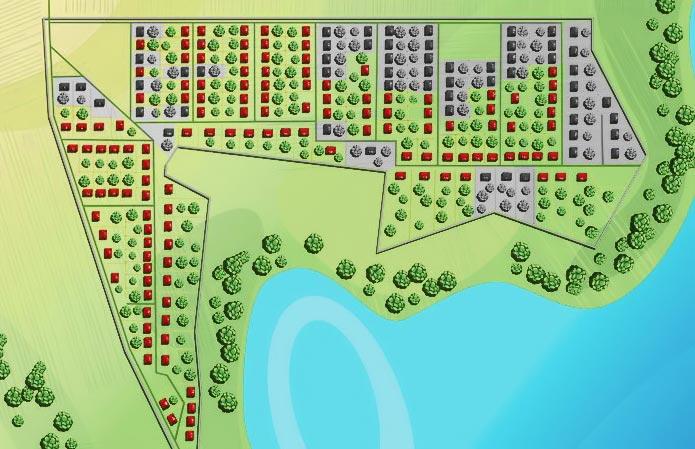Проекты домов.  Схема поселка.  Местонахождение.  О поселке.