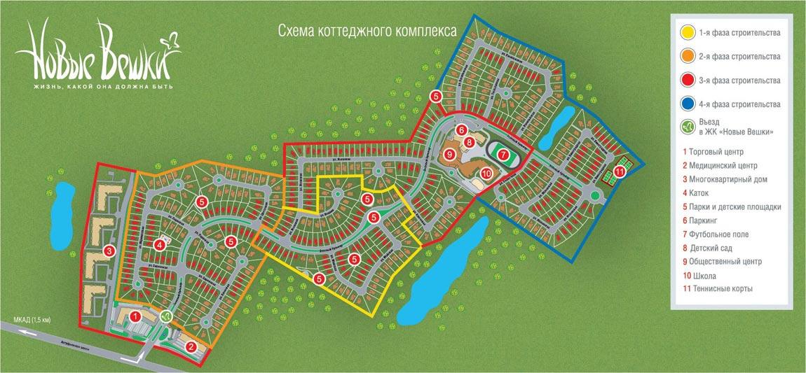 Схема коттеджного поселка «