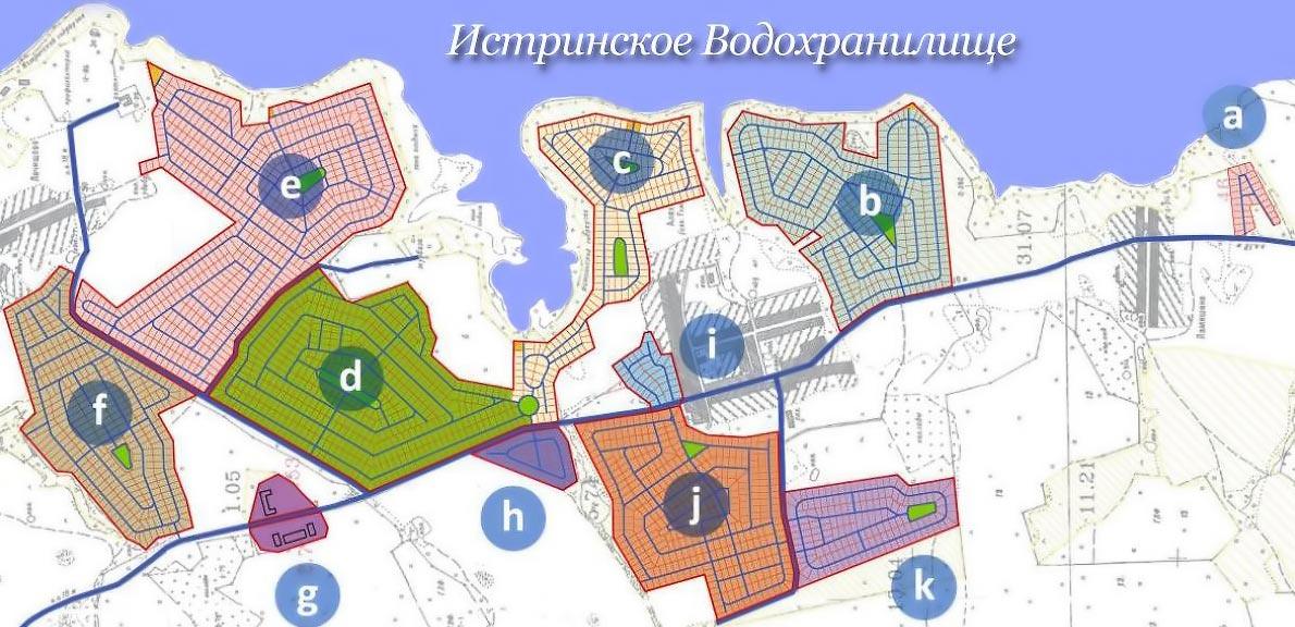 Продажа земельных участков без подряда со всеми коммуникациями на берегу Истринского Водохранилища.