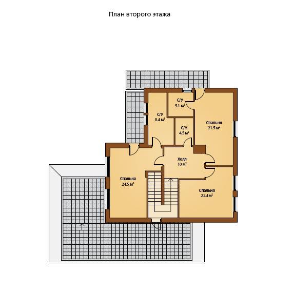 Схема второго этажа.